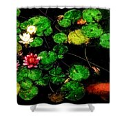0148-lily -  Venetian Sl Shower Curtain