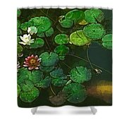 0148-lily -  Academic Sl Shower Curtain
