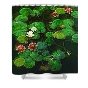 0151-lily - Academic Shower Curtain