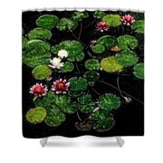 0151-lily - Embossed Sl Shower Curtain