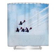 0161 - Air Show - Acanthus Shower Curtain