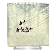 0161 - Air Show - Colored Photo 2 Hp Shower Curtain