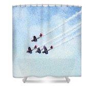 0161 - Air Show - Pastel Chalk 2  Shower Curtain