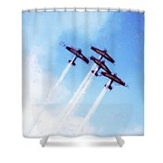 0166 - Air Show - Acanthus Shower Curtain