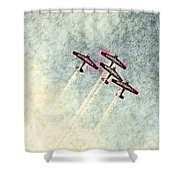 0166 - Air Show - Colored Photo 2 Hp Shower Curtain