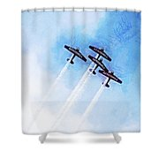 0166 - Air Show - Lux Shower Curtain