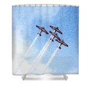 0166 - Air Show - Pastel Chalk 2 Shower Curtain