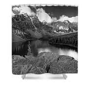 0166 Moraine Lake Shower Curtain