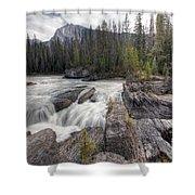 0182 Natural Bridge Waterfall Shower Curtain