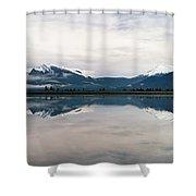 0188 Mountain Reflection Shower Curtain