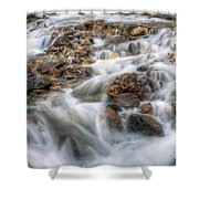 0190 Glacial Runoff 2 Shower Curtain