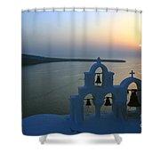 0210 Oia Sunset Shower Curtain