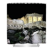 0212 The Acropolis Athens Greece Shower Curtain