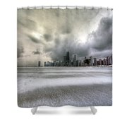0242 Wintry Chicago Shower Curtain