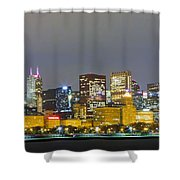 0247 Chicago Skyline Panoramic Shower Curtain