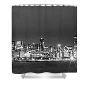 0248 Chicago Skyline Panoramic Shower Curtain