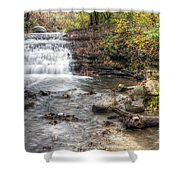 0278 South Elgin Waterfall Shower Curtain