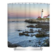 0312 Portland Head Lighthouse Shower Curtain