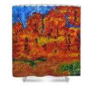 032 Abstract Landscape Shower Curtain