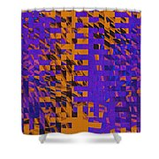 0347 Abstract Thought Shower Curtain