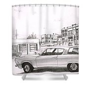 035-cuda Shower Curtain