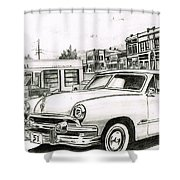 038-old51 Shower Curtain