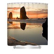 0385 Cannon Beach Reflection Shower Curtain