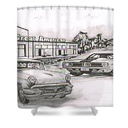 040-great American Shower Curtain