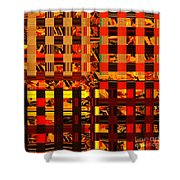 0409 Abstract Thought Shower Curtain