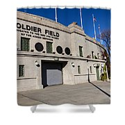 0417 Soldier Field Chicago Shower Curtain by Steve Sturgill