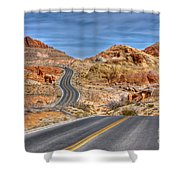 0445 Valley Of Fire Nevada Shower Curtain