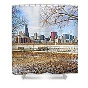 0452 Chicago Skyline Shower Curtain