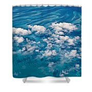 0459 Above The Caribbean Shower Curtain