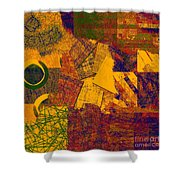 0470 Abstract Thought Shower Curtain