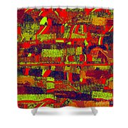 0480 Abstract Thought Shower Curtain