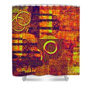 0482 Abstract Thought Shower Curtain