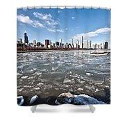 0486 Chicago Skyline Shower Curtain