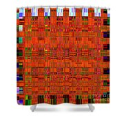 0493 Abstract Thought Shower Curtain by Chowdary V Arikatla