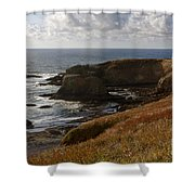 0513  Yaquina Lighthouse Shower Curtain
