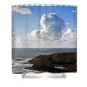 0514 Yaquina Lighthouse Shower Curtain