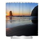 0519 Cannon Beach Sunset 3 Shower Curtain