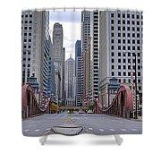 0525 Lasalle Street Bridge Chicago Shower Curtain