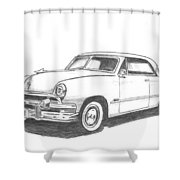 053-old51 Shower Curtain