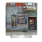 0605 Old Foundry Building Shower Curtain