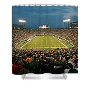 0615 Prime Time At Lambeau Field Shower Curtain