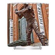 0620 Hank Aaron Statue Shower Curtain