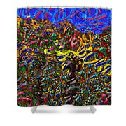 0629 Abstract Thought Shower Curtain
