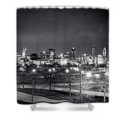 0647 Chicago Black And White Shower Curtain