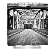 0648 Bow River Bridge Shower Curtain