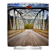 0649 Bow River Bridge Shower Curtain